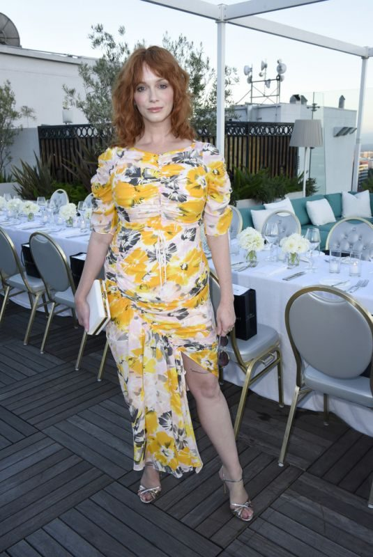 CHRISTINA HENDRICKS at Instyle's Badass Women Dinner with Foster Grant in West Hollywood 08/13/2019