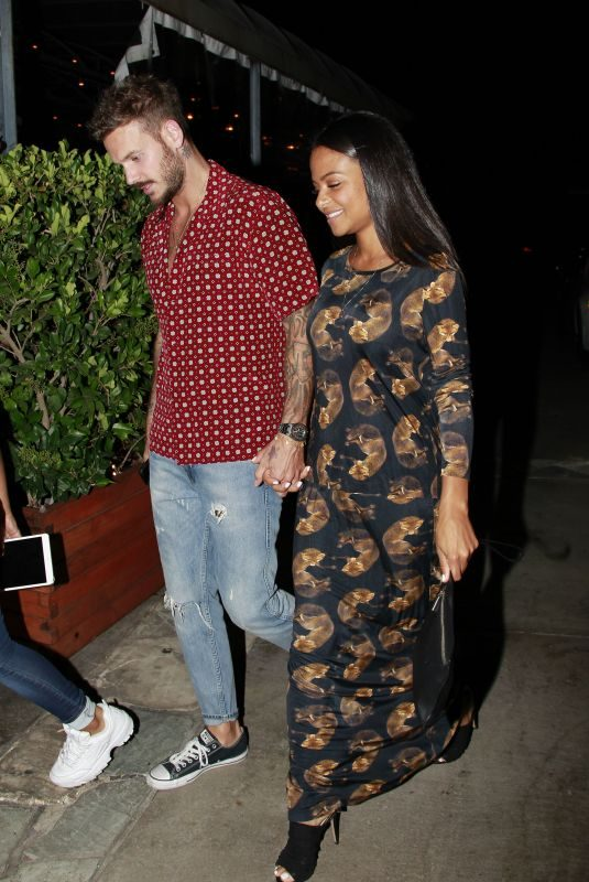 CHRISTINA MILIAN and Matt Pokora Night Out in West Hollywood 08/02/2019
