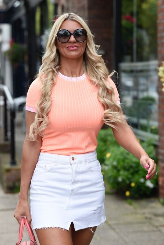 CHRISTINE MCGUINNESS Out in Alderley Edge in Cheshire 08/09/2019