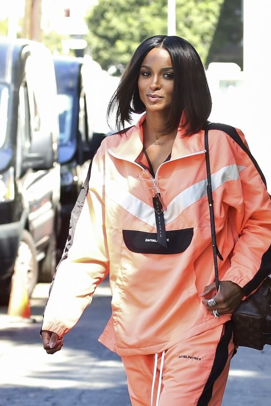 CIARA Shows New Short Haircut at a Photoshoot in Los Angeles 08/14/2019