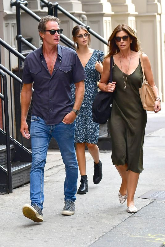 CINDY CRAWFORD and Rande Gerber Out and About in New York 08/06/2019