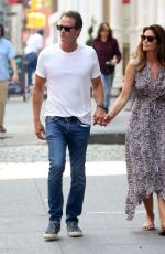 CINDY CRAWFORD and Rande Gerber Out in New York 08/21/2019
