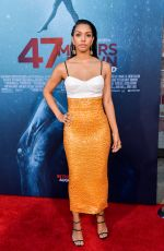 CORINNE FOXX at 47 Meters Down Uncaged Premiere in Westwood 08/13/2019