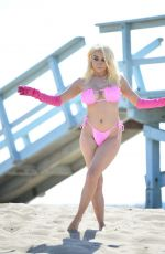 COURTNEY STODDEN in Bikini at a Beach in Los Angeles 08/11/2019