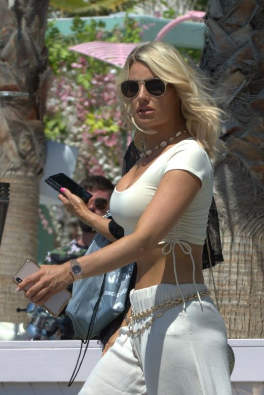 DANIELLE ARMSTRONG Out and About in Ibiza 08/16/2019