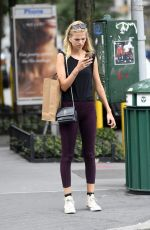 DAPHNE GROENEVELD Out Shopping in New York 08/16/2019