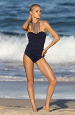 DAPHNE LAAN in Swimsuit on the Set of a Photoshoot at a Beach in Sydney 08/01/2019