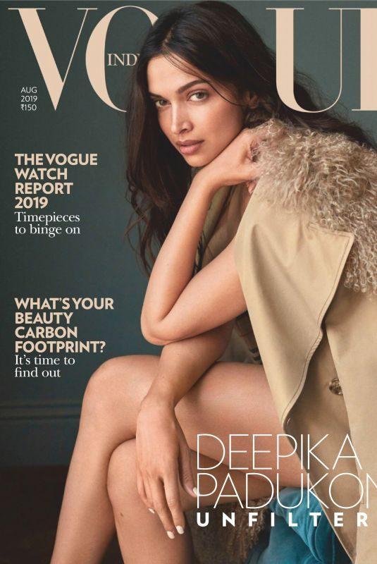 DEEPIKA PADUKONE in Vogue Magazine, India August 2019
