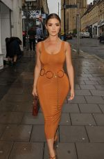 DEMI ROSE MAWBY Arrives at a Restaurant in Bristol 08/18/2019