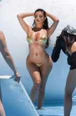 DEMI ROSE MAWBY in a Golden Bikini for her Oh Polly Swimvear Collection 07/15/2019