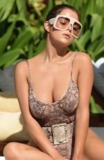 DEMI ROSE MAWBY in Swimsuit on a Sun Bed in Bali 08/03/2019