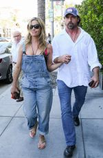 DENISE RICHARDS and Aaron Phypers Out in Los Angeles 08/13/2019
