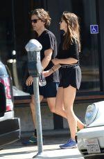 ELIZABETH OLSEN and Robbie Arnett at a Gym in Studio City 08/28/2019
