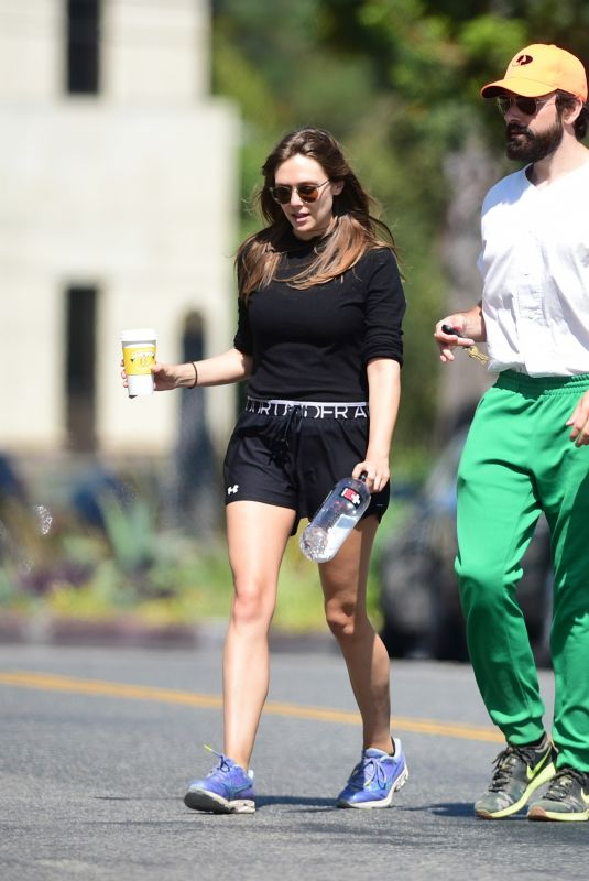 ELIZABETH OLSEN and Robbie Arnett at a Gym in Studio City 08/28/2019