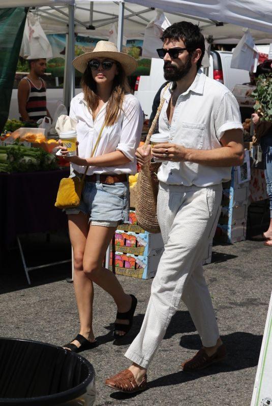 ELIZABETH OLSEN and Robbie Arnett at Farmer's Market in Los Angeles 08/11/2019