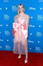ELLE FANNING at D23 Disney+ Event in Anaheim 08/24/2019