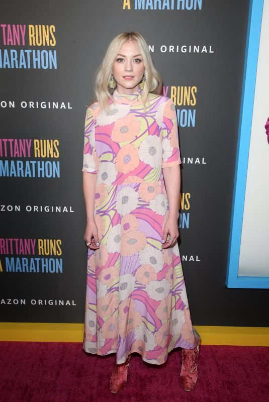 EMILY KINNEY at Brittany Runs A Marathon Premiere in Los Angeles 08/15/2019