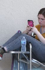 EMMA KENNEY on the Set of Shameless in Los Angeles 07/31/2019