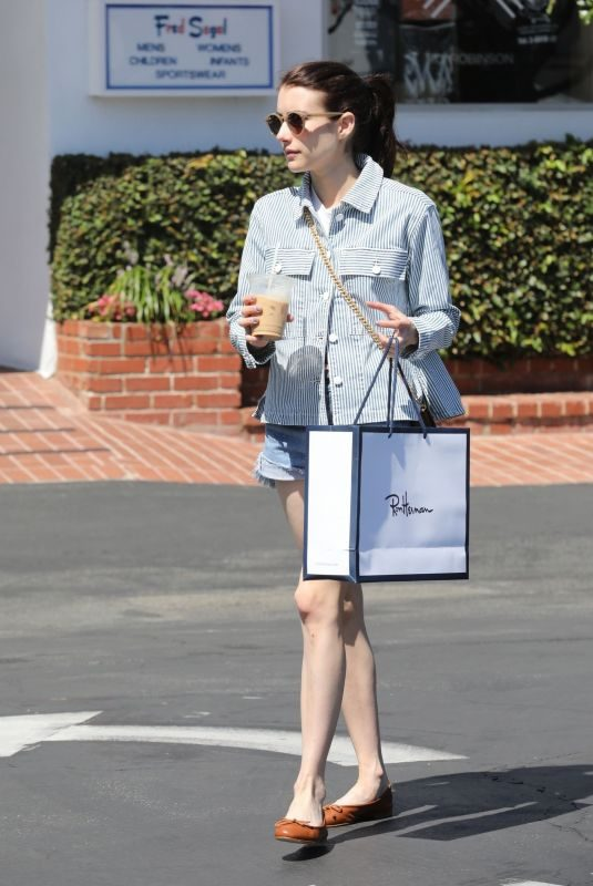 EMMA ROBERTS Out Shopping in West Holywood 08/30/2019