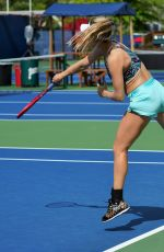 EUGENIE BOUCHARD at a Practice Session in Toronto 08/09/2019