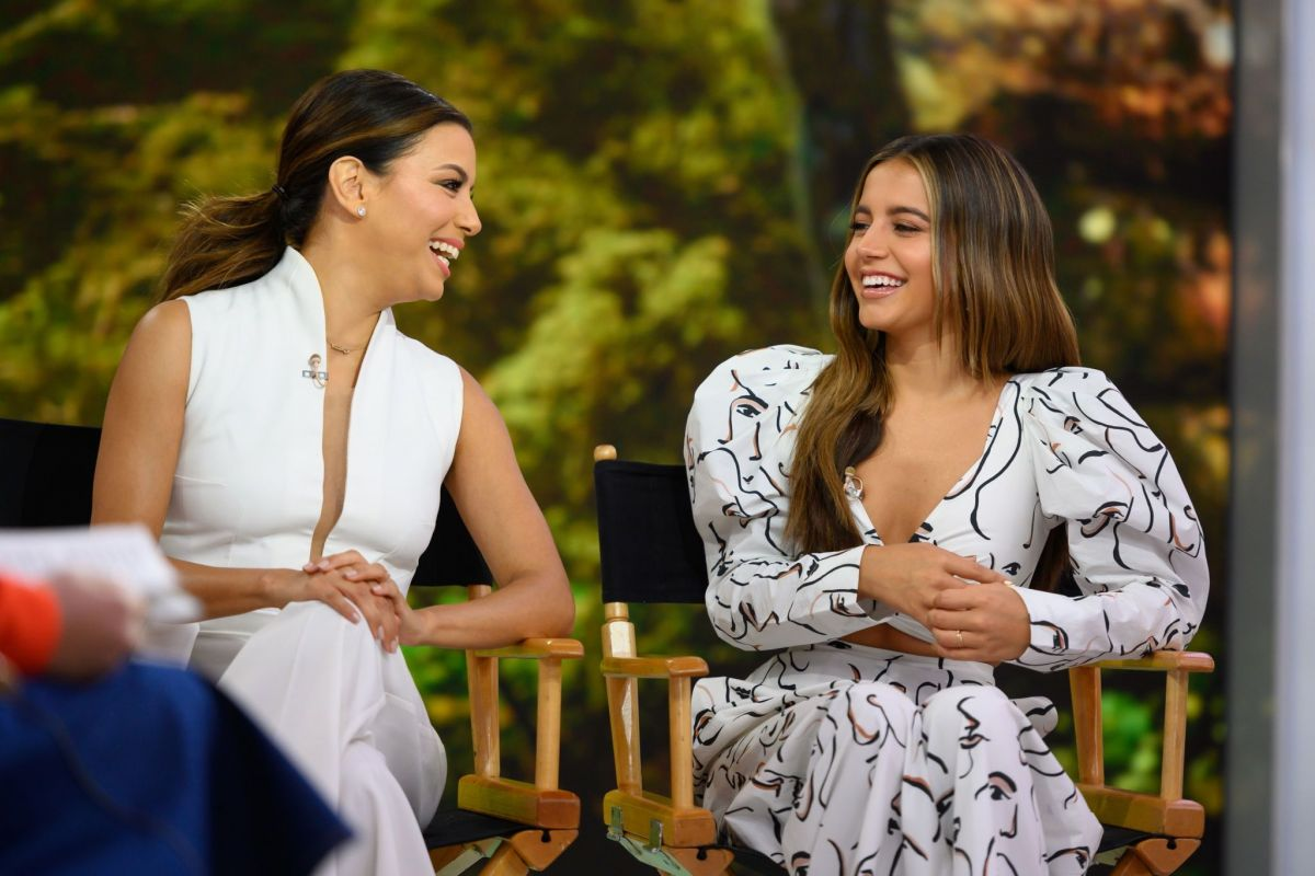 EVA LONGORIA And ISABELA MONER At Today Show In New York