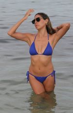 EVA MARCELA in Blue Bikini at a Beach in Miami 08/04/2019