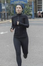 EVE HEWSON on the Set of Behind Her Eyes in London 08/12/2019