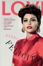 FELICITY JONES in Love Magazine, August 2019
