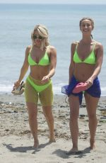 FERNE MCCANN and DANIELLE ARMSTRONG in Bikinis on the Beach in Marbella 08/01/2019