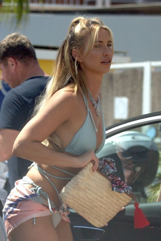 FERNE MCCANN at a Beach Club in Ibiza 08/16/2019
