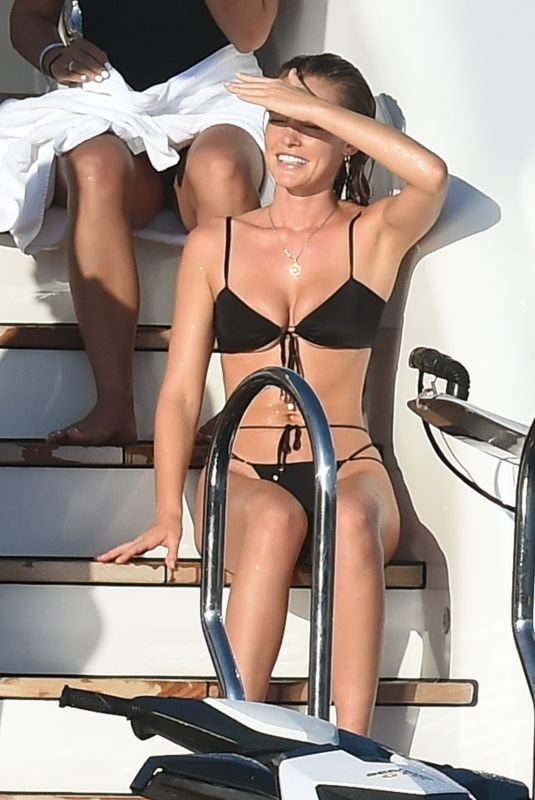 GEORGIA GIBBS in Bikini at a Yacht in Porto Cervo 08/11/2019