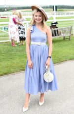 GEORGIA TOFFOLO at Celebrity Horserace at Glorious Goodwood in Chichester 08/01/2019