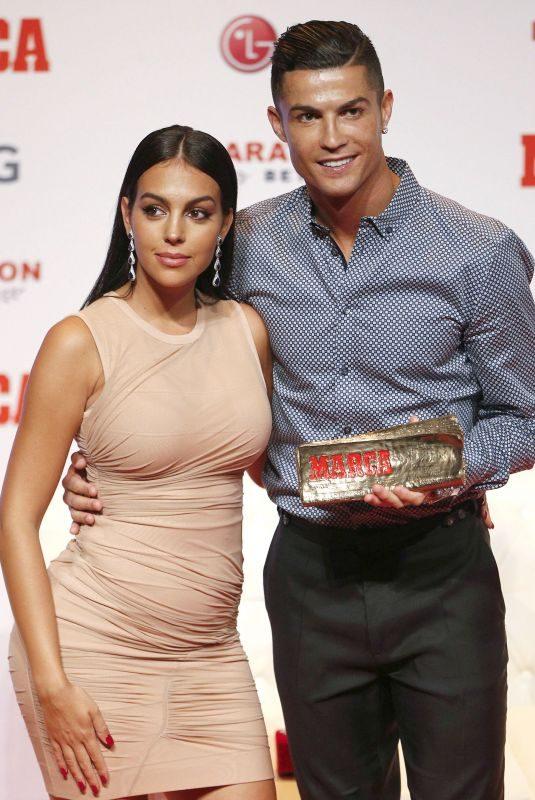 GEORGINA RODRIGUEZ at Cristiano Ronaldo Receives 2019 Marca Legend Award in Madrid 07/29/2019