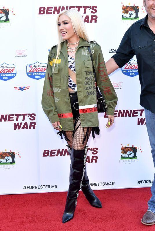 GEWEN STEFANI at Bennett's War Premiere in Hollywood 08/13/2019
