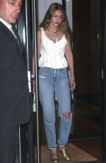 GIGI HADID Out for Dinner in New York 08/20/2019