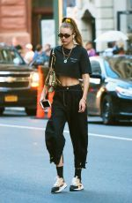 GIGI HADID Out in New York 08/13/2019