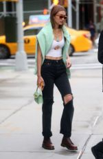 GIGI HADID Out in New York 08/21/2019