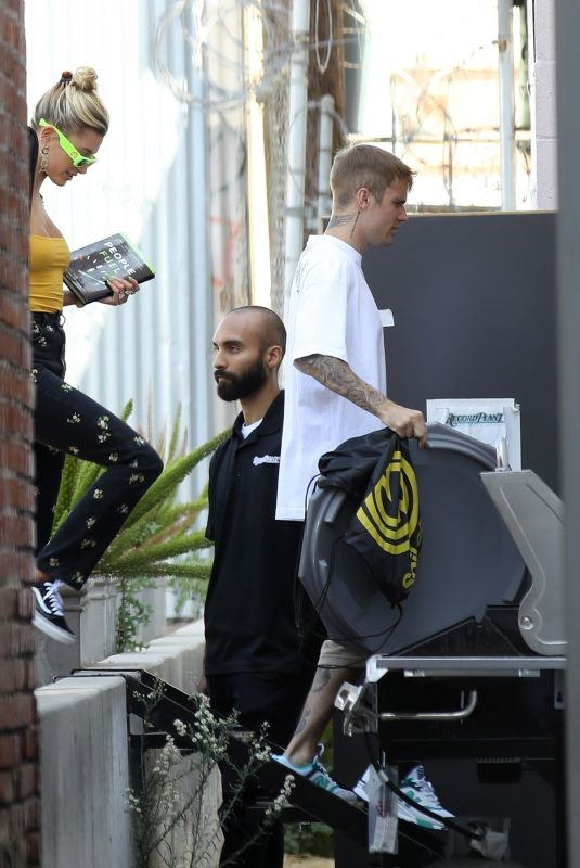 HAILEY and Justin BIEBEER Out in West Hollywood 08/28/2019