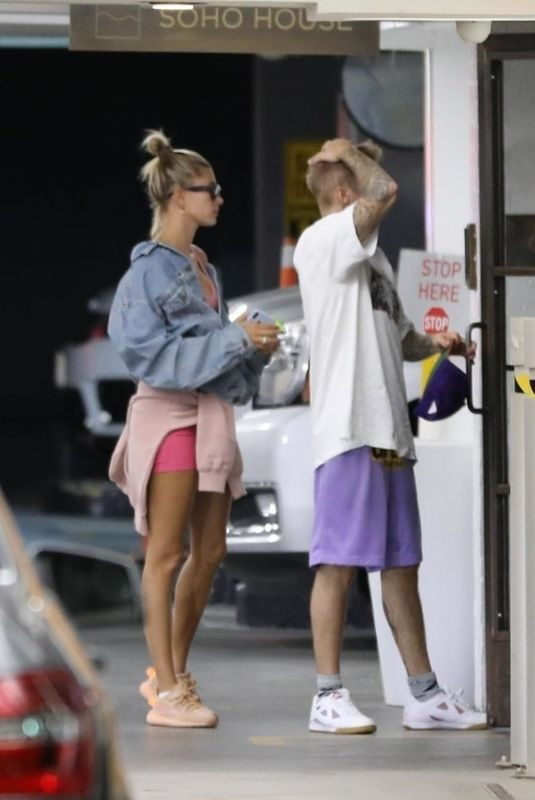 HAILEY and Justin BIEBER at Soho House in West Hollywood 08/18/2019