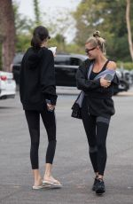 HAILEY BIEBER and KENDALLE JENNER Heading to Pilates Class in West Hollywood 08/19/2019