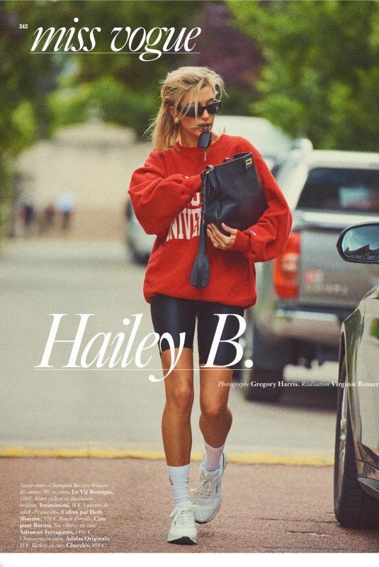 HAILEY BIEBER in Vogue Magazine, September 2019