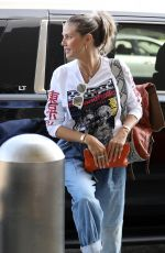 HEIDI KLUM Arrives at LAX Airport in Los Angeles 08/24/2019