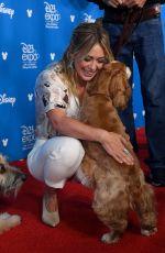 HILARY DUFF at D23 Disney+ Event in Anaheim 08/23/2019