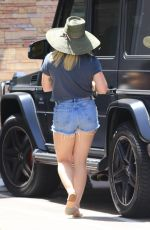 HILARY DUFF Out and About in Studio City 08/03/2019