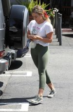 HILARY DUFF Out Shopping in Los Angeles 08/21/2019