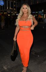 HOLLY HAGAN Night Out in London 08/07/2019