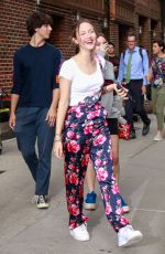 IRIS APATOW Arrives at Late Show Starring Stephen Colbert in New York 07/29/2019