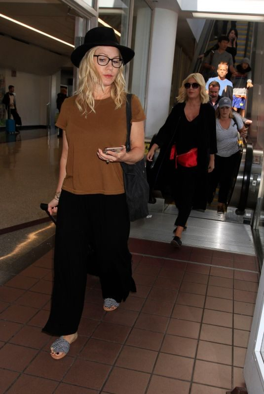 JENNIE GARTH at Los Angeles International Airport 08/07/2019
