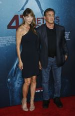 JENNIFER FLANVIN and Sylvester Stallone at 47 Meters Down: Uncaged Premiere in Los Angeles 08/13/2019