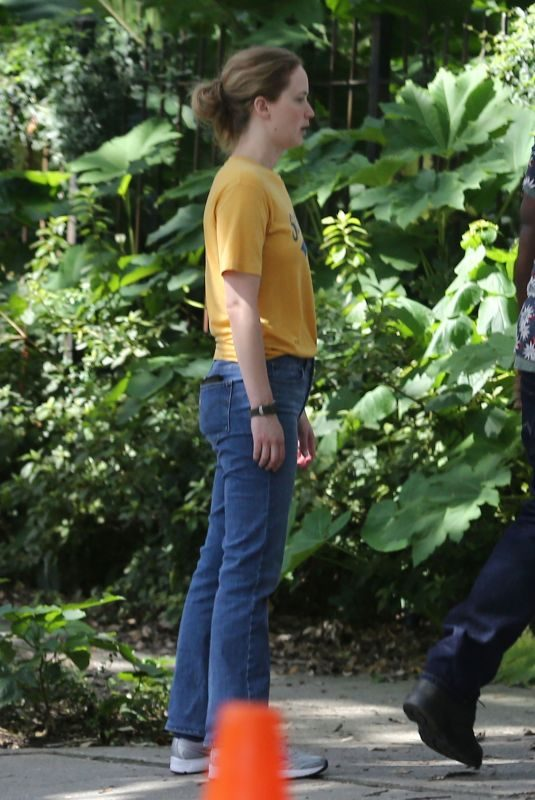 JENNIFER LAWRENCE on the Set of Untitled Soldier Project in New Orleans 07/31/2019